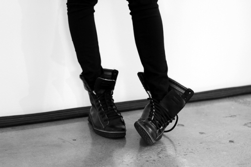 Via http://milkstudios.tumblr.com/post/18078262672/backstage-kicks-photo-by-tyler-nevitt